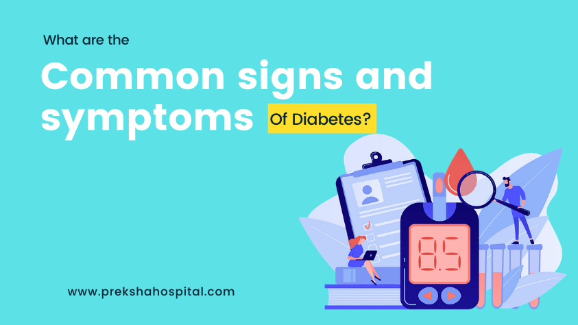 What are the common signs and symptoms of diabetes?